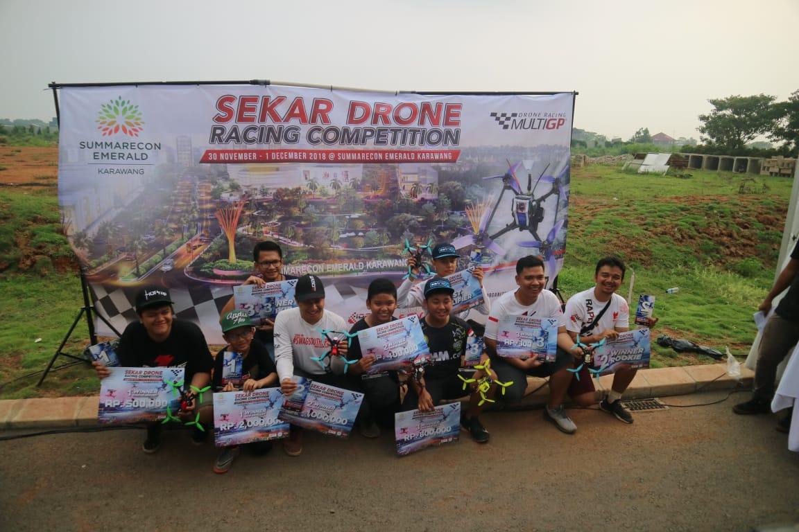 Kompetisi Drone Terbesar di Karawang, SEKAR Drone Racing Competition, Sukses Digelar.