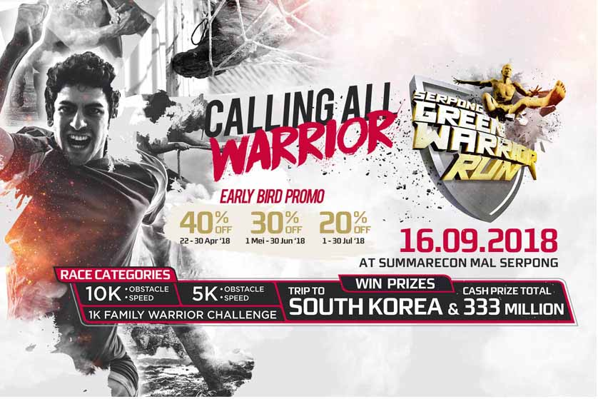 Ikuti Tantangan Seru di Serpong Green Warrior Run 2018