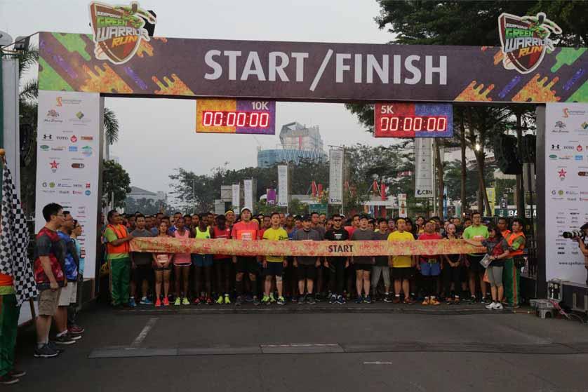 Keseruan di Acara Serpong Green Warrior Run 2018