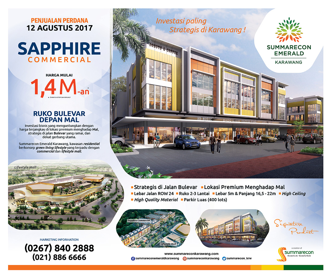 Penjualan Perdana SAPPHIRE Commercial