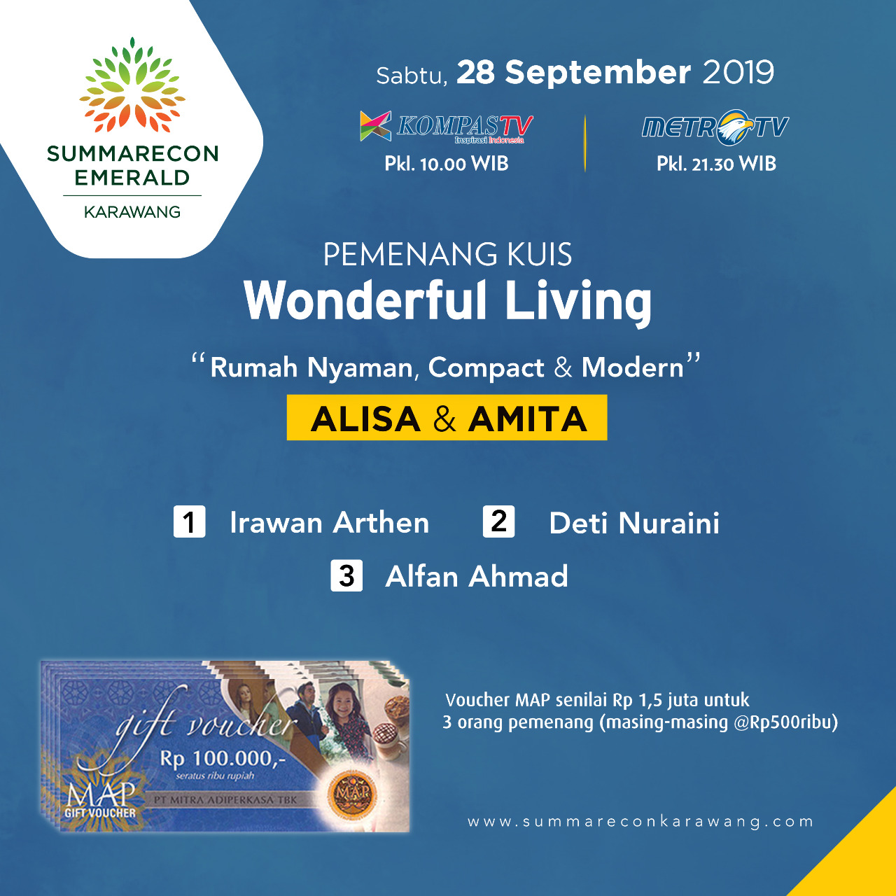 Pemenang Wonderful Living Kuis