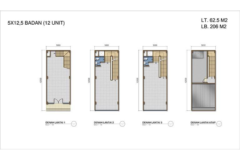 New Orchard Square Type Badan  5x12.5