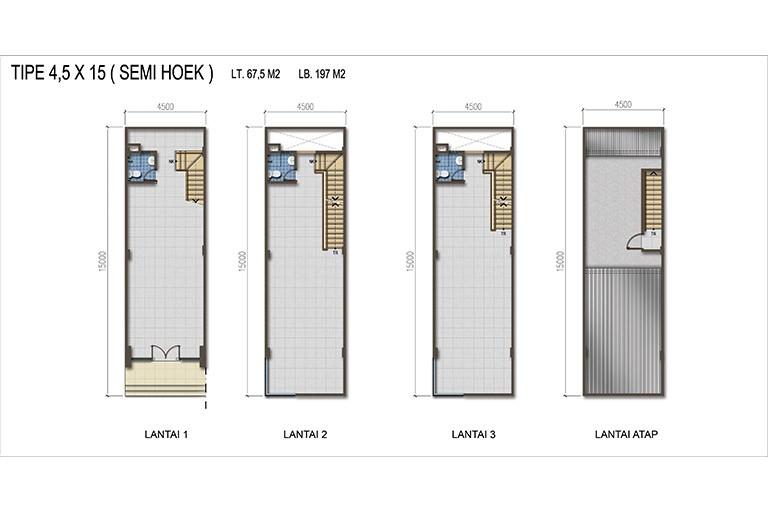 Summagung Commercial Type Semi Hoek 4.5x15