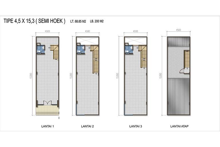 Summagung Commercial Type Semi Hoek 4.5x15.3