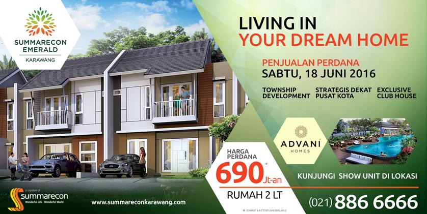 Penjualan Perdana Summarecon Emerald Karawang