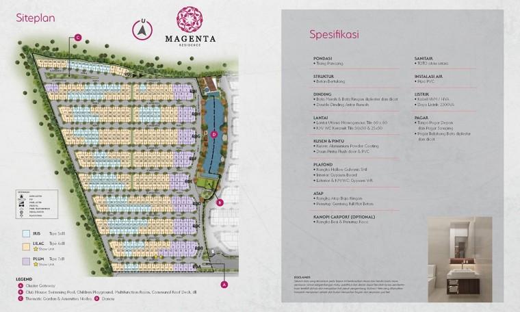 Siteplan & Spesifikasi