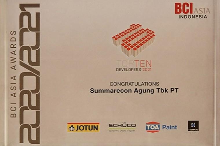 Summarecon Raih Penghargaan BCI Asia Award
