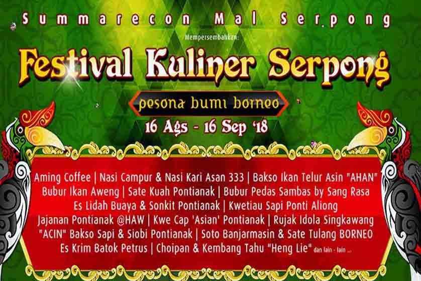 Nikmati Kelezatan Cita Rasa di Festival Kuliner Serpong 2018