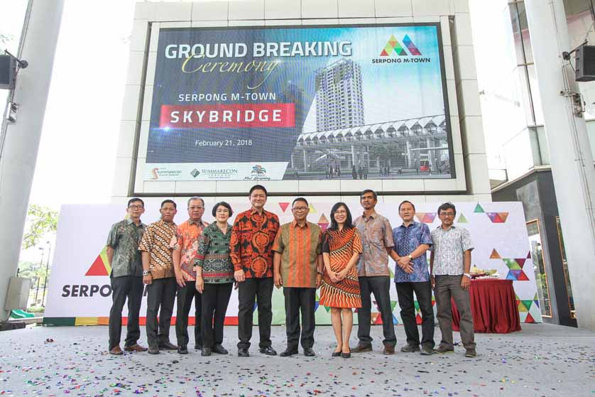 Ground Breaking Skybridge Serpong M-Town