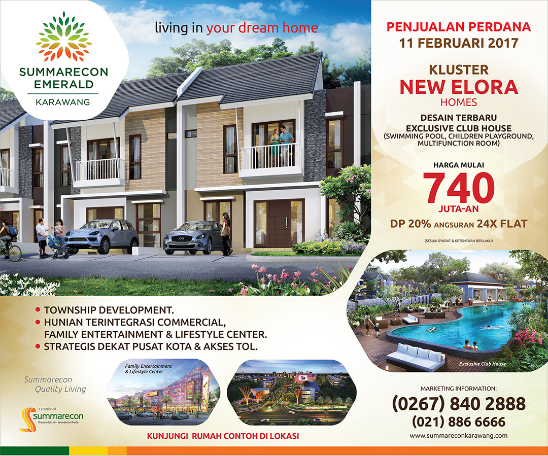 Penjualan Perdana New ELORA Homes